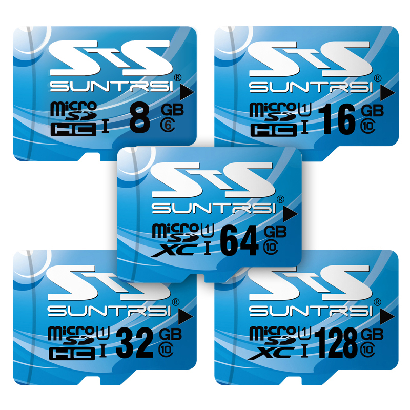 Suntrsi Memory Card 128GB 64GB 32GB micro sd card 16GB 8GB Class10 flash card Memory Microsd for Smart phone/Tablet Free Ship samsung micro sd card memory card 128gb class10 waterproof tf carte sd memoria sim card trans mikro card 128gb for mobile phone