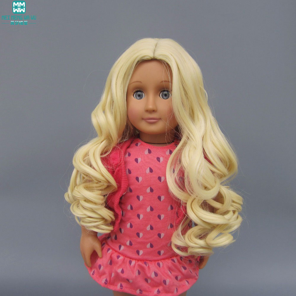 Finished product hair for dolls 25-28cm Head circle doll Wig for 18 inch American girl doll hair and Russian Handmade Doll american girl doll clothes superman and spider man cosplay costume doll clothes for 18 inch dolls baby doll accessories d 3