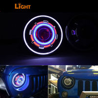 2pcs 7 Inch 30W Demon Eye Led Headlight Hi Lo Beam Headlamp With Evil Eyes For