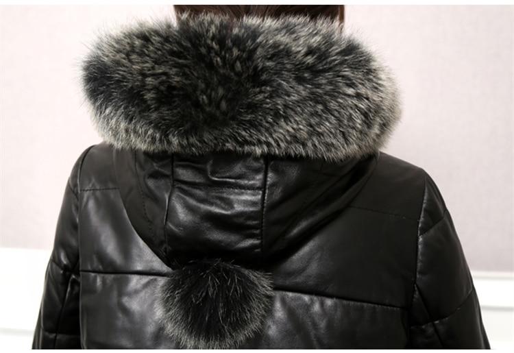 Black Capuchon Rembourré Cuir Hiver En Ch682 Nouveau Vestes Fourrure De Manteau Coréenne D'hiver Court Femme Femmes Col 2018 Fox red Réel À IqwROfq