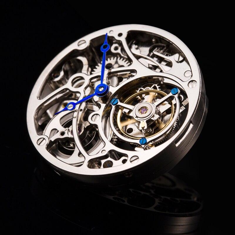 Высокая-конец Для мужчин механические часы оригинал Tourbillon полые двигаться Для мужчин t