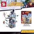 563 unids sy370 ataque torre avenger iron man thor marvel super hero juego bloques de construcción compatibles legoe ladrillos figuras juguete