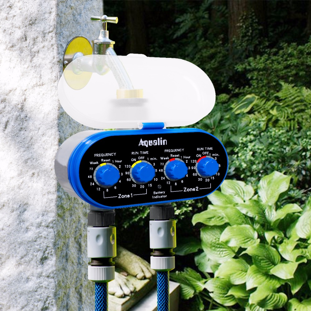 Ball Valve Electronic Automatic Watering Two Outlet Four Dials Water Timer Garden Irrigation Controller for Garden Ball Valve Electronic Automatic Watering Two Outlet Four Dials Water Timer Garden Irrigation Controller for Garden, Yard #21032