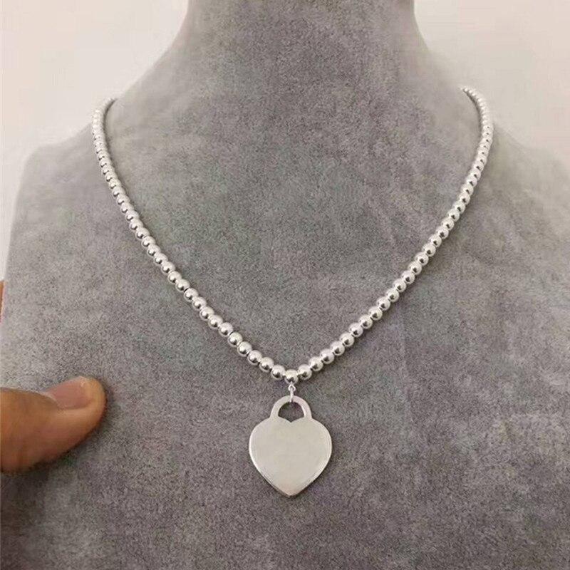 ViTas TIFF s925 Original charme en argent Sterling collier de luxe accrocheur pendentif collier Couple cadeau bijoux livraison gratuite