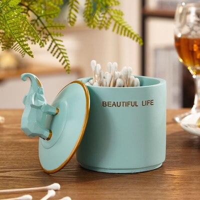 Нордическая Смола слон коробка для салфеток ретро гостиная многофункциональный ящик для хранения пультов дистанционного управления домашнее бумажное полотенце домашний декор - Цвет: H
