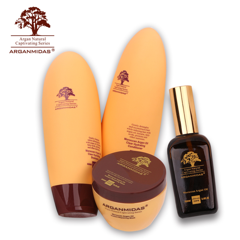 Hot Sale High Quality Arganmidas Hair Shampoo+ Hair Conditioner+Mask Treatment +Oil Care Hair Get Free Gifts Free Shipping christmas gifts arganmidas moroccan argan oil organic 3pcs hair shampoo get a free hair conditioner free shipping