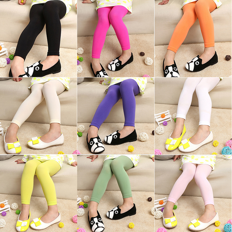 Kids Girl Baby Colorful Tights Stockings Children Ballet Dance Footless Black Or White Tights Stockings In Opaque