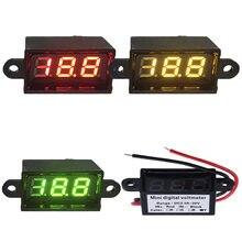 Volt numérique 12 mètre 0.28 pouces étanche DC 3.5-30 v Mini voltmètre de LED voiture moto gamme Auto ampèremètre électrique