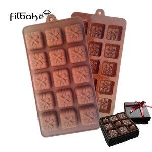 Moule à pâtisserie en forme de chocolat | 15 trous, boîte-cadeau en forme de chocolat, outils pour gâteaux, moule à bonbons, qualité alimentaire Silicone, ustensiles de cuisson, Cupcake figurine pour gâteau