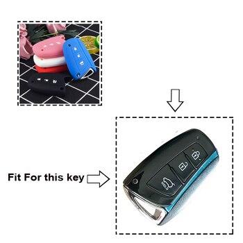 Cover in silicone telecomando/chiave per Hyundai Solaris ix35 ix45 Accent Elantra Santa Fe  1