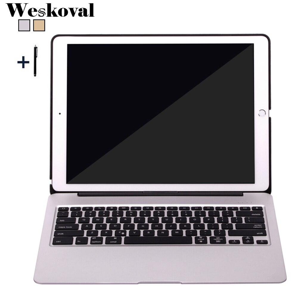 Pour iPad Pro 12.9 2017 Sans Fil Bluetooth Clavier Cas Pour iPad Pro 12.9 pouce 2015 Tablet En Alliage D'aluminium Couverture de Stand funda + Stylo