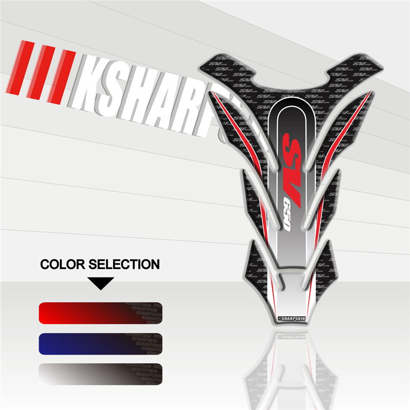 New Motorcycle Fuel Tank Pad Sticker Protection Decorative Car Stickers 3D Decal For SUZUKI SV650 Sv 650