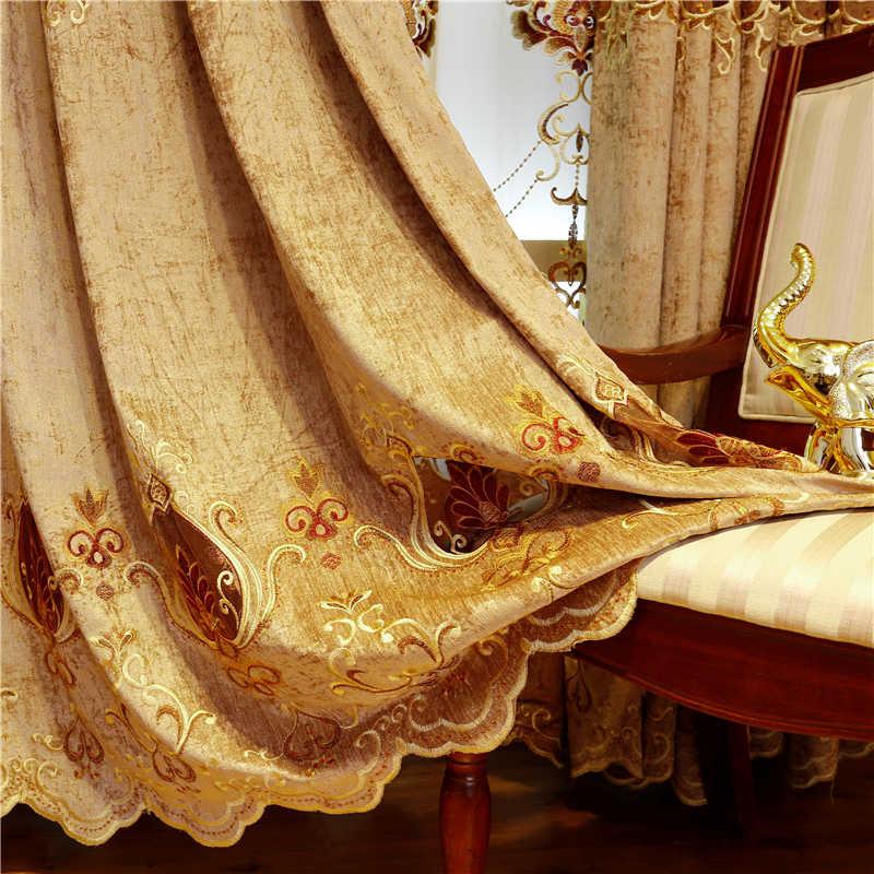 2019 Hot Eropa Bermutu Tinggi Mewah Kain Tirai untuk Kamar Tidur Belaka Voile Tirai untuk Living Room Tirai Jendela Dapur