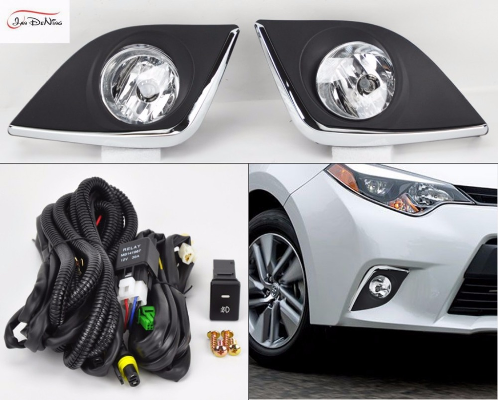 JanDeNing Car Fog Lights for TOYOTA Corolla 2014-2016 (USA TYPE) Halogen bulb H11-12V 55W Front Fog Lights Bumper Lamps Kit car styling fog lights for toyota camry 2012 2014 pair of 12v 55w front fog lights bumper lamps daytime running lights