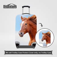 Dispalang Elastic Stretch Luggage Protective Covers 3 Size S M L For Trolley Suitcase Horse Pattern