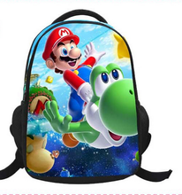 Купить с кэшбэком 16-Inch Cartoon Children Kids Backpacks Cartoon Super Mario Bag School For Girls Boys Teenagers Bags Mochilas Infantil Gift