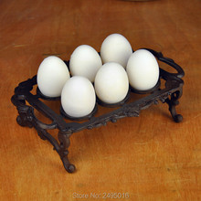 цена на Cast iron High Quality Creative Egg Racks Kitchen Organizer Egg Storage Container Home Decor