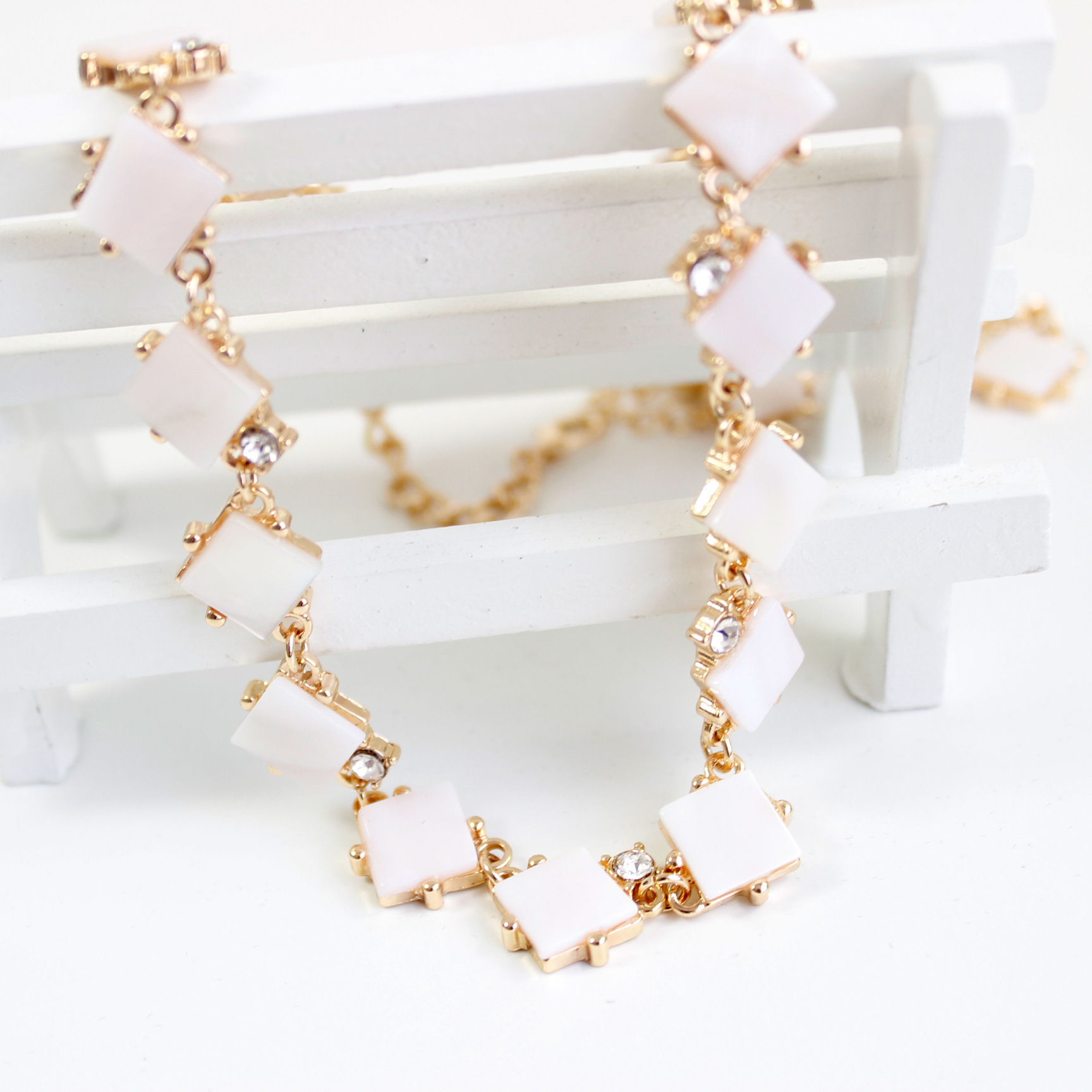 product gold light weight water detail necklace harams necklaces jewellery