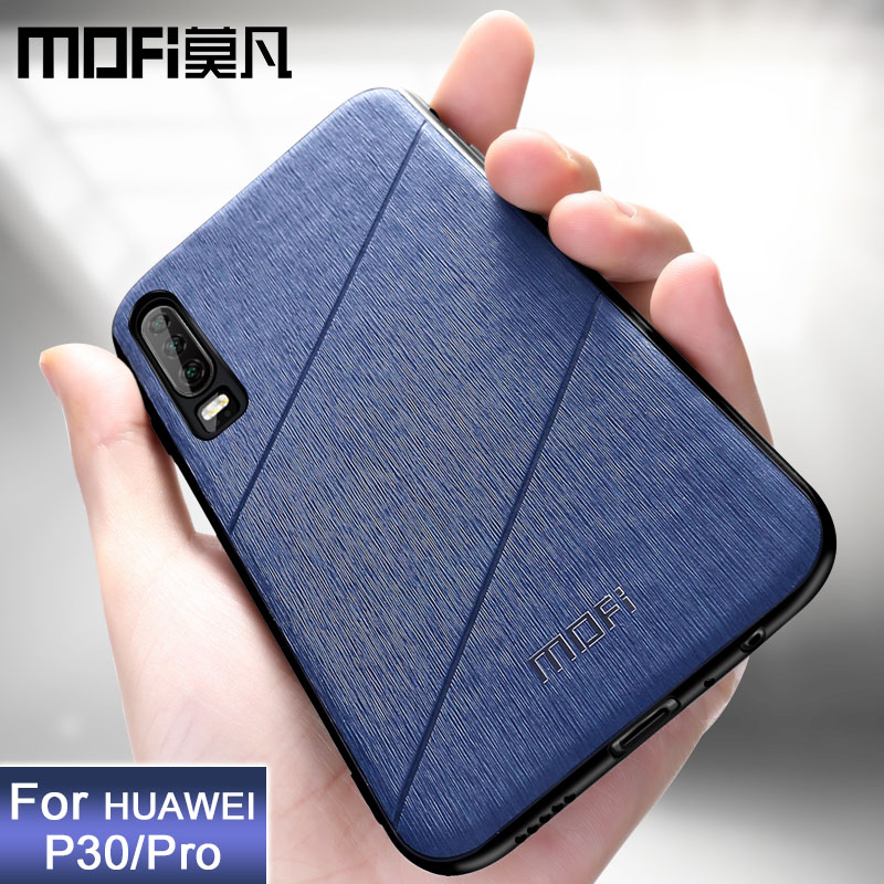 Pour Huawei P30 Pro housse P30 Lite antichoc couverture arrière affaires noir téléphone capas coque MOFi original P 30 étui