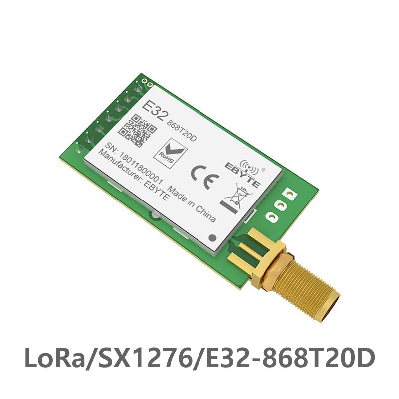 SX1276 TCXO 868MHz 20dBm LoRa UART Ebyte E32-868T20D Rf Long Distance SMA-K Connector Transmitter Receiver Wireless Rf Module