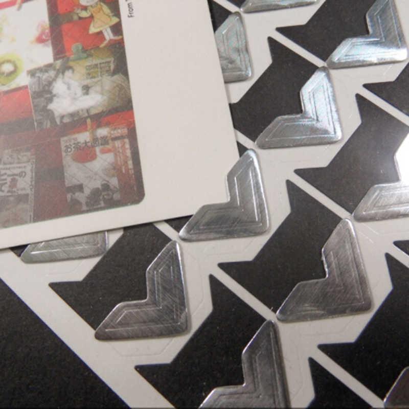 24 Pcs DIY Vintage Corner Kraft Paper Stickers For Photo Albums Frame Decoration Scrapbooking 4 Colors