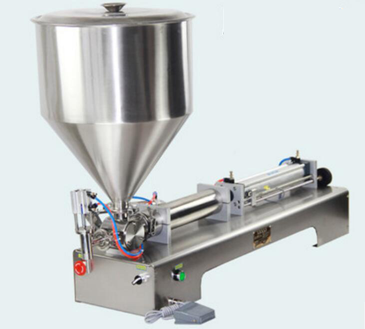 Automatic quantitative single-head Pneumatic piston filler Liquid Horizontal pneumatic paste filling machine G1WG 5-100ML shampoo lotion cream yoghourt honey juice sauce jam gel filler paste filling machine pneumatic piston filler with free shipping