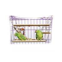 Petacc Bird Ladder Wooded Parrot Swing Toy High Quality Bird Hanging Toy For Parrots Parakeets Cockatiels