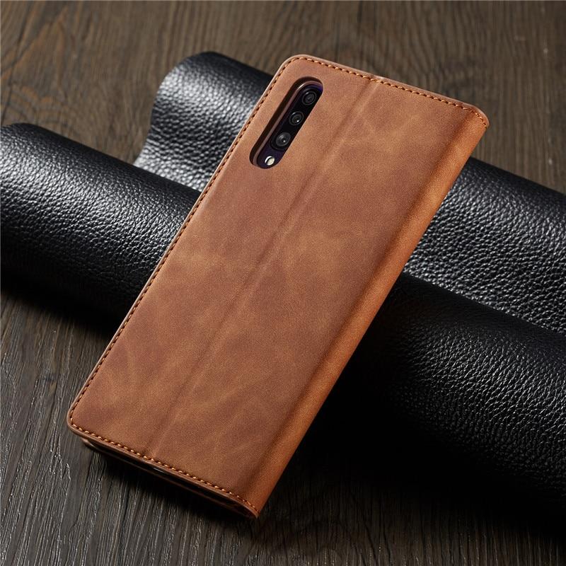 HTB1hHnfa8iE3KVjSZFMq6zQhVXaD Luxury Leather A50 A51 A71 Case For Samsung Galaxy A70 A51 A40 A30 A20 A20E A10 M10 Strong Magnetic Wallet Flip Card Slots Cover