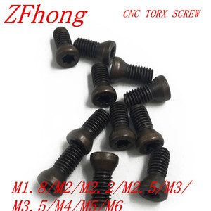 20-50pcs M1.6 m1.8 m2 m2.2 m2.5 m3 m3.5 m4 M5 M6 CNC Insert Torx Screw for Replaces Carbide Inserts CNC Lathe Tool(China)