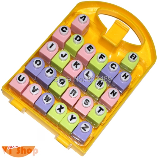 Scrapbook alphabet Punch 26 Letters Punches Set Birthday Gift Paper Punch Sets Children DIY Toy Shaper Craft Scrapbook best gift paper punch sets 16pcs border punches children diy toy shaper craft scrapbook in nice gift box