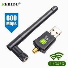 Kebidu Бесплатный драйвер сетевые карты Wifi адаптер USB Двухдиапазонный 600 Мбит/с 5/2. 4 ГГц LAN антенна ключ Wifi для Win 7 8 10 RTL8811AU
