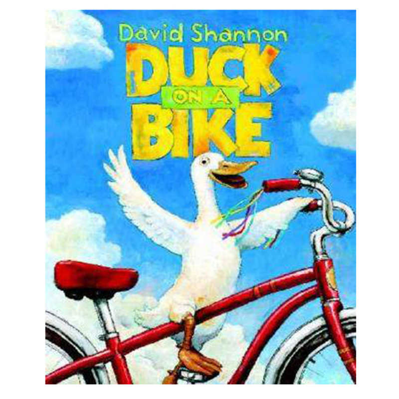 DUCK ON A BIKE By David Shannon Educational English Picture Book Learning Card Story Book For Baby Kids Children Gifts