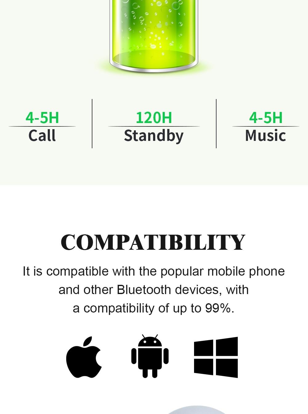 YODELI i7 Bluetooth Earphone Mini Wireless Headset In Ear Phone Buds Headphone for iPhone X 7 plus Samsung Xiaomi LG (9)