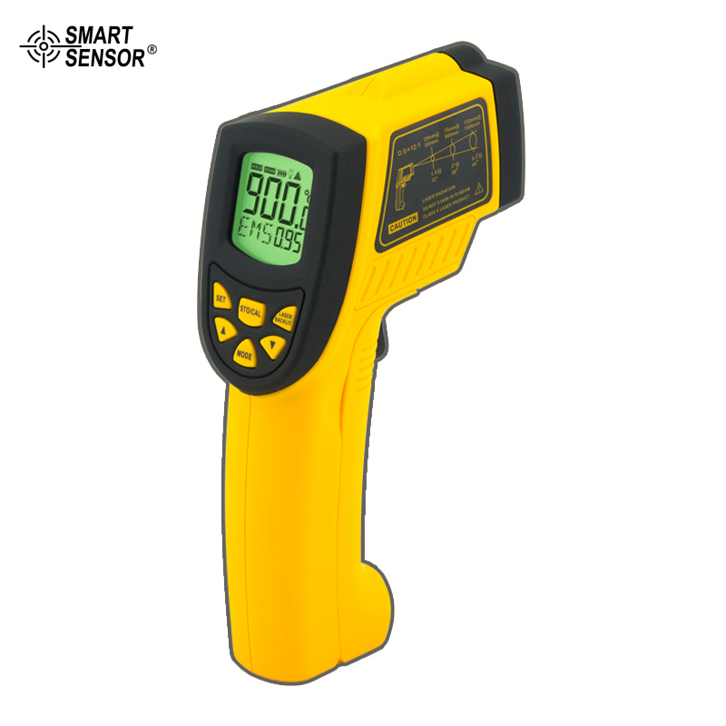 Smart Sensor AR862A Digital Non-Contact Portable Infrared IR Thermometer Laser Thermometer -50 to 900 degree  цены