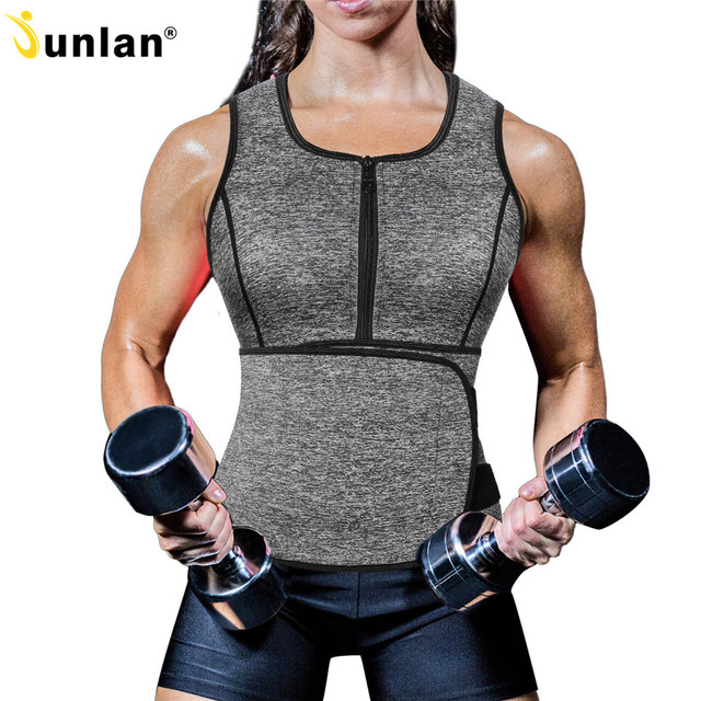 4241fa44cbb Junlan Slimming Corset Top Neoprene Vest Women Bodysuit Corrective Waist  Trainer Weight Loss Belt Body Shaper for Tummy Flat