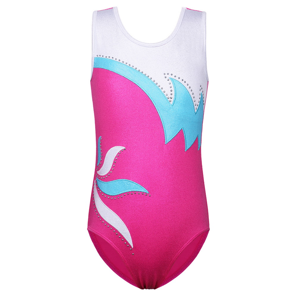 BAOHULU Toddler Teens Gymnastics Leotard Girls Child Shining Dance Costume Sport Bodysuit Athletic Acrobatics For Kids