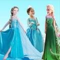 Vestido de verão Para As Meninas Cartton disfraces disfraz elza Anna Elsa Crianças Vestido Vestidos de princesa Menina rapunzel Traje roupas