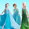 Vestido de verano Para Niñas Cartton elza Anna Elsa disfraz Vestido Niños Vestidos de princesa de La Muchacha disfraces rapunzel Disfraz ropa