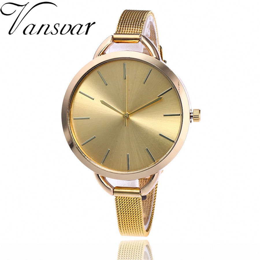 Dropshipping Women Gold & Silver Mesh Watch Fashion Casual Stainless Steel Quartz Wristwatches Gift Relogio Feminino dropshipping fashion stainless steel rose gold