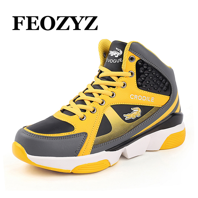 FEOZYZ Plus Size 37 47 Men Women Basketball Shoes Strong Grip Outdoor High Top Basketball Sneakers