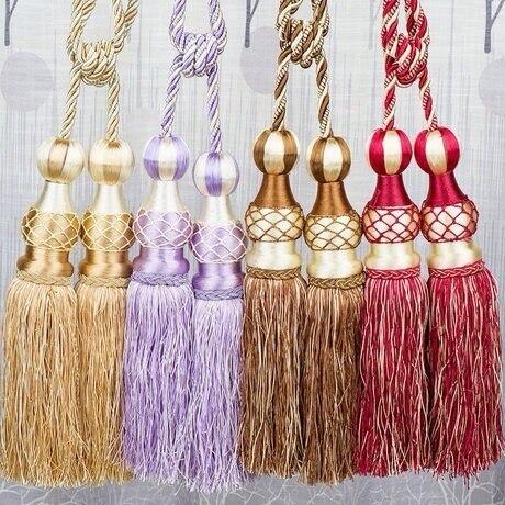 Decoraci n del hogar bal n colgado 5 colores accesorios for Accesorios para cortinas