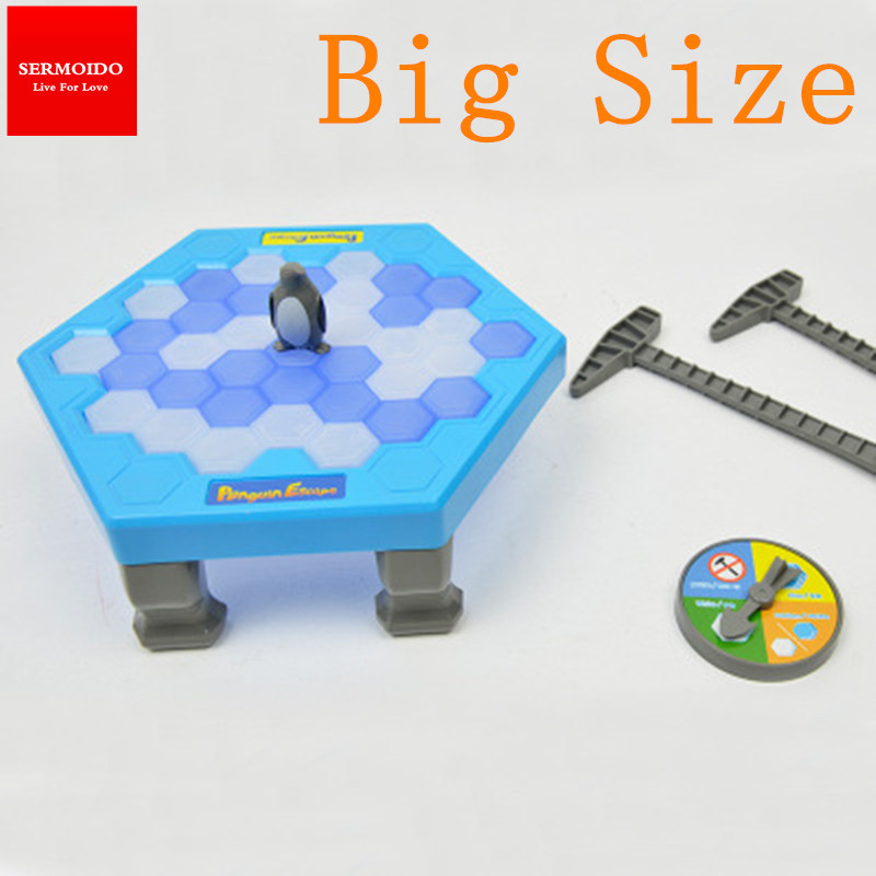 Building & Construction Toys Mali-puzzle Table Penguin Trap Activate Funny Game Interactive Ice Breaking Table Penguin Trap Entertainment Toy For Kids Family