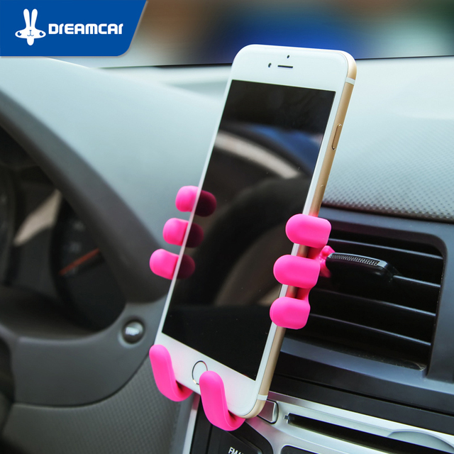 Silicone Suporte Do Telefone Do Carro Titular Respiradouro de Ar Do Carro Do Telefone Móvel Acessórios Saudável Titular Suporte Móvel Celular Para O Telefone, GPS