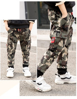 Big Boys Sports Camouflage Trousers Autumn Cotton Pants For Boys Long Sports Pants Causal Boys Clothing