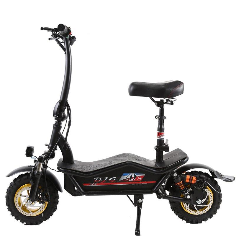 11 pouces Électrique scooter 1000 w forte moteur hors-route au lithium électrique planche à roulettes vélo 48 V Électrique ebike Anti-anti-dérapant vide pneu