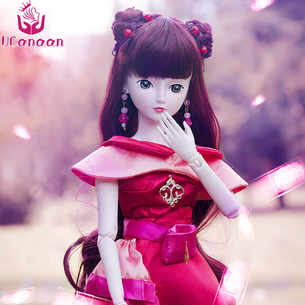 Ucanaan 1/3 Large BJD/SD Doll 19Joints Rotated Zina Fairy Princess Free Cosplay Dress Wig Clothes Shoes Make Up Doll Toys uncle 1 3 1 4 1 6 doll accessories for bjd sd bjd eyelashes for doll 1 pair tx 03