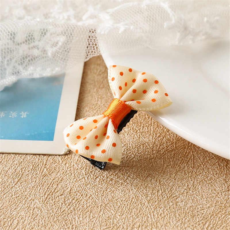 1 шт. прекрасные маленькие точки Бант Шпилька для волос ремешки Игрушки для девочек ручной работы небольшие зажимы головная повязка резинки аксессуары для волос для детей