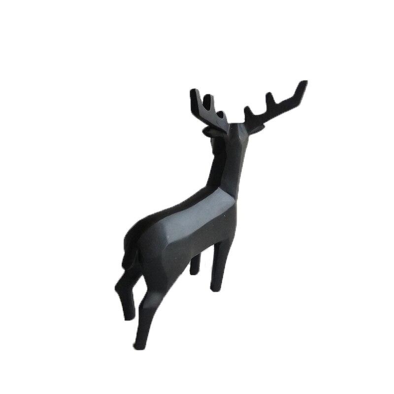 12.5 inch Stag Head Figurine Home Decor,Decorative Buck Bust Sculpture Ceramic Deer Head Black