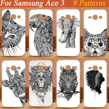 New Painted Colorful black and white animals design hard cover Cases For Samsung Galaxy Ace 3 III S7270 S7272 free shipping image