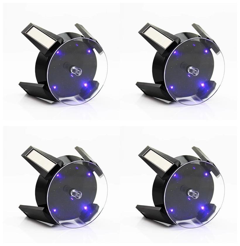 montre-bracelet noir Vitrine solaire de mode 360 bo/îtiers et pr/ésentoirs /à bijoux rotatifs automatiques /à plateau tournant pour collier